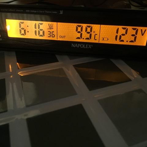 車外の温度