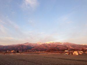 吾妻山の遠景