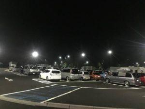 道の駅の駐車場