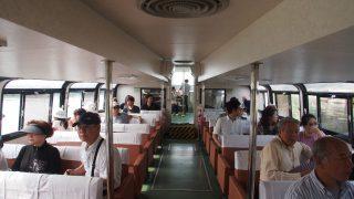 笹川流れで遊覧船あそび(新潟県村上市)