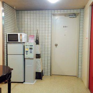 共用部分にある冷蔵庫と電子レンジ