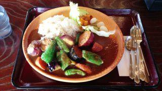 五穀米と夏野菜のカレー~展勝地レストハウス(岩手県北上市)