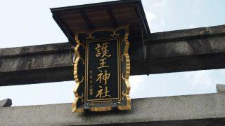 イノシシに囲まれた護王神社(京都市)