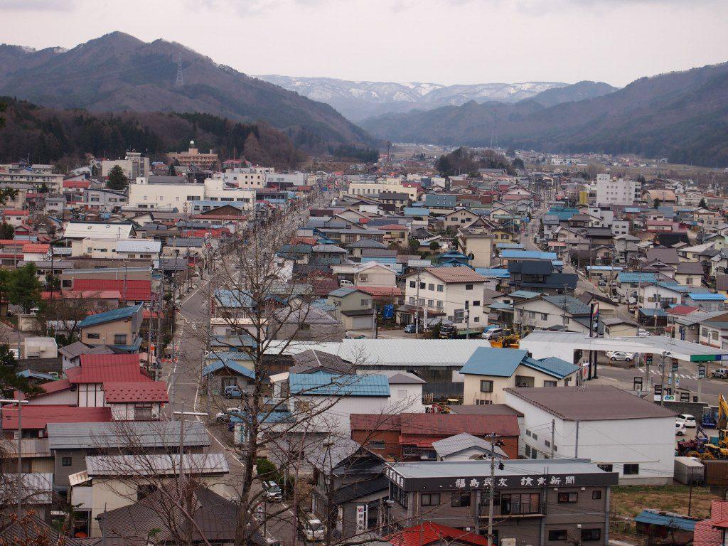 高台から見た南会津町中心部