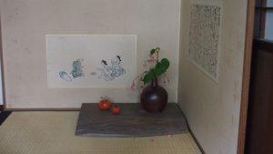 落柿舎の床の間