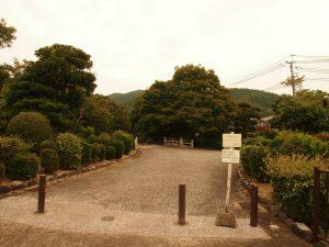 天智天皇陵の入り口