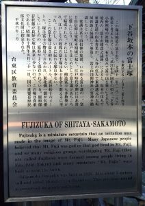 下谷坂本富士の説明板