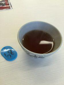 お茶と番号札