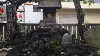 再建された富岡八幡宮の深川新富士(東京江東区)