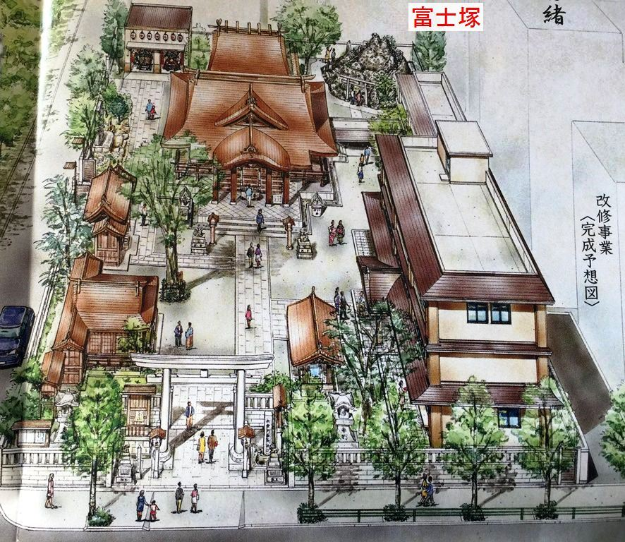 鐵砲洲神社境内の図