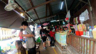 アンパワーの水上マーケット(タイ旅行2018)