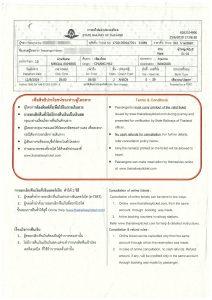 タイ国鉄チケット